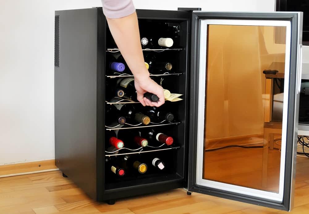 double glazed wine cooler door
